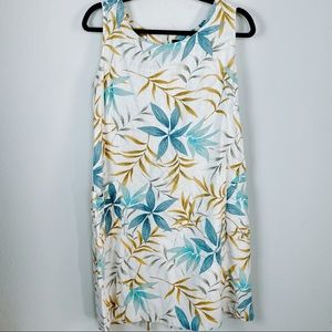 Erika Dresses Linen Rayon Sleeveless Floral Large